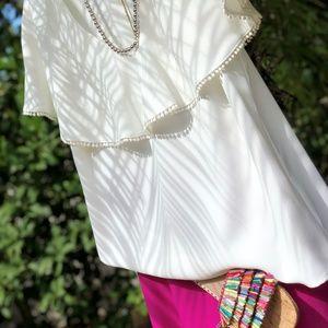 Trina Turk white shirt